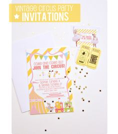 The Busy Budgeting Mama: Sophie & Sienna's Vintage Circus Birthday Party