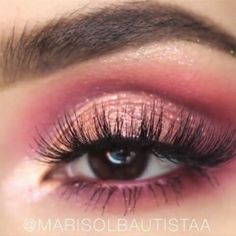 Maquillage des yeux facile Simple Eyeshadow Looks, Simple Eyeshadow Tutorial, Pink Eyeshadow Look, Pink Eye Makeup, Simple Eye Makeup, Natural Eye Makeup, Eyeshadow Makeup, Gym Makeup, Eyeshadow Tutorials