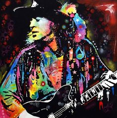 Stevie Ray Vaughan Painting  - Stevie Ray Vaughan Fine Art Print