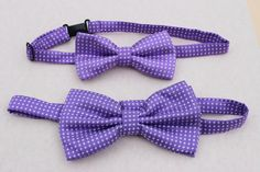 purple bow ties dad and son bow ties polka dot by SummerBloomKids