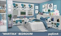 """Sims 4 CC's - The Best: """"MARTIKA"""" BEDROOM by PQSIM4"""