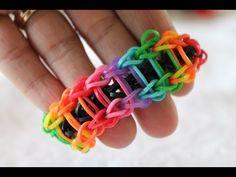 Rainbow loom Nederlands Ladder armband bracelet - YouTube