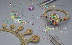 Magazine Dior w/ Thomas Lenthal Gems Jewelry, Jewelry Art, Gemstone Jewelry, Jewelery, Jewelry Accessories, Fashion Jewelry, Coloured Stone Rings, Jewellery Sketches, Jewelry Sketch