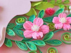 小紙クラフト - Kogami Craft Paper Quilling Designs, Quilling Ideas, Paper Art, Paper Crafts, Quilling Flowers, Leather Flowers, Flower Petals, Card Making, Collection