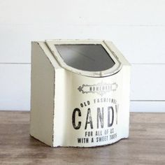 Old Fashioned Metal Candy Box   Antique Farm House