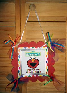 1 Personalized Elmo Party Birthday Sign by PartyCraftingDivas, $11.50