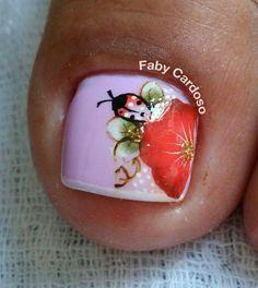 56 Modelos de Unhas de Pés e Mãos combinadas! Perfeito Toe Nail Art, Toe Nails, Mani Pedi, Pedicures, 35, How To Make, Toe Nail Designs, Nail Design, Pretty Pedicures