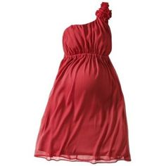 Va Va Voom -- can you believe this is a maternity dress? http://thestir.cafemom.com/beauty_style/167812/5_pretty_red_valentines_day/113109/merona_maternity_one_shoulder_rosette?slideid=113109?utm_medium=sm&utm_source=pinterest&utm_content=thestir