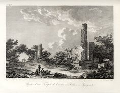"""In: Saint-Non, Voyage Pittoresque... Nouvelle Edition. Paris, Dufour... AGRIGENTO - """"Restes d'un Temple de Castor & Pollux"""". Anno: 1829"""
