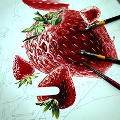 기초디자인 - 딸기