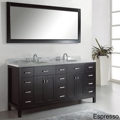 @Overstock.com - Virtu USA Caroline Parkway 72-inch Double Sink Bathroom Vanity Set - The Caroline Parkway 72-inch Double sink vanity set is equipped with four soft closing doors, twelve soft closing drawers, a gorgeous Italian Carrara white marble countertop and two pre-drilled widespread faucet mounts. http://www.overstock.com/Home-Garden/Virtu-USA-Caroline-Parkway-72-inch-Double-Sink-Bathroom-Vanity-Set/8238561/product.html?CID=214117 $1,699.00