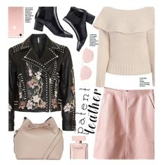 A fashion look from March 2017 by beebeely-look featuring Topshop, Narciso Rodriguez, StreetStyle, patentleather, sammydress, leatherskirt и StreetChic