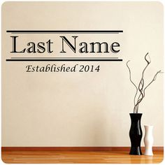 Personalized Last Name and Year wedding wall by ValueVinylArt, $14.99