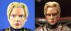 Brienne of Tarth Game of Thrones Funko custom repaint action figure before and after