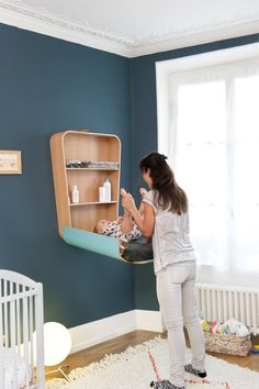 NOGA changing table - look best with white instead of blue; perfect for a smaller space! WHERE can I buy this is the US????