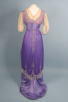 Beaded Purple Evening Gown, c. 1912