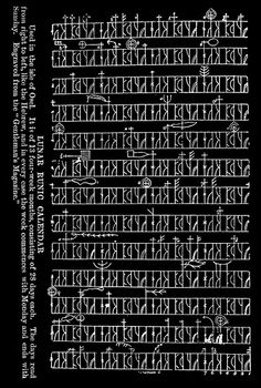 Ancient runic calendar from Sāmsala - The island of the Sami or the isle of Ösel i.e. Saaremaa in Estonia. Estland