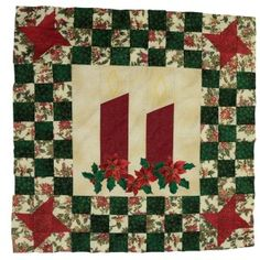 Another easy pattern for Christmas - Christmas Candles. Christmas Candles, Christmas Christmas, Quilting Patterns, Quilts, Blanket, Easy, Projects, How To Make, Scrappy Quilts