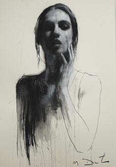 anna, pastel & collage, 46ins x 32ins | Mark Demsteader | mark demsteader