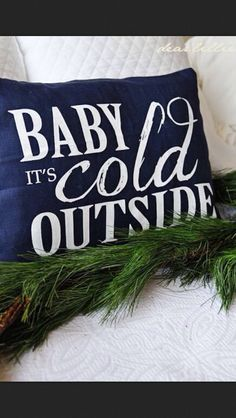 Winter lyrical pillow