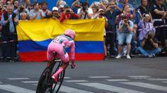 Nairo Quintana fue superado por 31 segundos por el holandés Tom Dumoulin. FOTO AFP