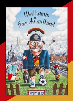 """Wellkamm tu Sauerkrautländ!"" Jawoll, mein Kommandant! Jaaaa!! (Zu bestellen auf www.primatebrain.com.)"