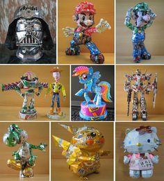 1000 images about cosas recicladas on pinterest tea - Manualidades de cosas recicladas ...