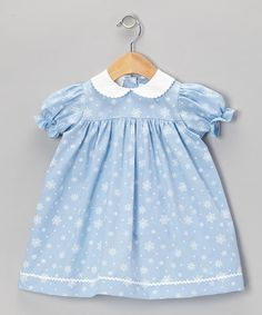 Loving this Blue Snowflake Dress - Toddler & Girls on #zulily! #zulilyfinds