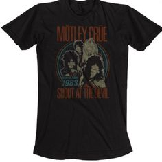 Our Motley Crue vintage concert tshirt is from the heavy metal band's 1983 Shout at the Devil World Tour. These series of shows were performed in support of the group's most recent album, at the time, also called Shout at the Devil, the second studio release and breakout album for Motley Crue. Made from 100% black cotton, this Motley Crue Shout at the Devil World Tour 1983 men's tee features distressed effects to the graphics for an authentic vintage look and feel. #RockerRags ♫
