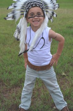 Kids costumes / diy costumes / homemade costumes / Indian costume / Native American costume / boys Indian costume