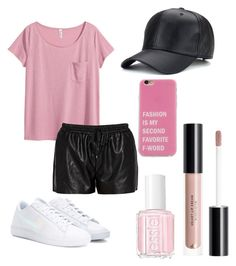 """😍"" by sharifahfun on Polyvore featuring H&M, Morgan, NIKE and Essie"