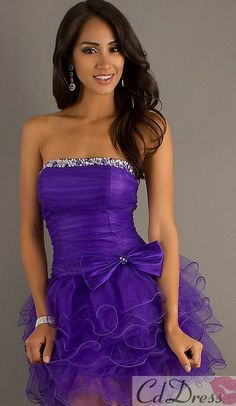 Short Strapless Purple Dress with Tulle Skirt Short Prom Dress - Sweet 16 Dresses - Homecoming Short Semi Formal Dresses, Dresses Short, Sweet 16 Dresses, Pretty Dresses, Beautiful Dresses, Jax Dresses, Dresses 2014, Homecoming Dresses, Bridesmaid Dresses