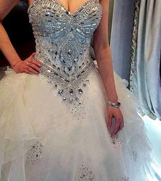 Love the bling part - would be gorgeous with a mermaid bottom!