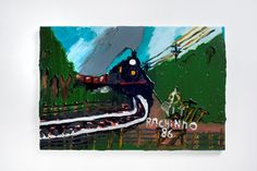 Rodrigo Andrade - 2012 |  Versão sobre a obra de Ranchinho Trem - 1986 |  Óleo sobre tela sobre mdf |  40 x 60 cm