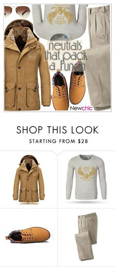 """""""Cool Neutrals-Newchic"""" by teoecar on Polyvore featuring Ray-Ban, men's fashion and menswear"""