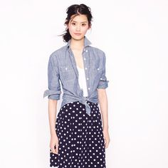 Selvedge chambray shirt - casual shirts - Women's shirts & tops - J.Crew