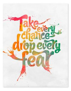 Take a chance #rainbow © 2011 Wicked Paper Co.