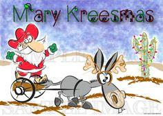 Funny Christmas Card - Mexican Santa Claus Humorous
