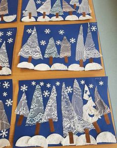 Looking for winter crafts for kids? Try these painted doily trees to make a beautiful winter scene. Looking for winter crafts for kids? Try these painted doily trees to make a beautiful winter scene. Winter Art Projects, Winter Crafts For Kids, Art For Kids, Winter Trees, Winter Fun, Preschool Christmas, Kids Christmas, Christmas Trees, Preschool Winter