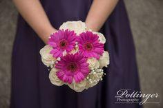 Congratulations to Melissa and Jared, a Cincinnati Celebration Rose Wedding Bouquet, Gerber Daisies, Beautiful Bouquets, Summer Design, Cream Roses, Bridesmaid Dresses, Wedding Dresses, Congratulations, Daisy