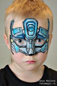 Optimus Prime. Face paint by Tanya Maslova.