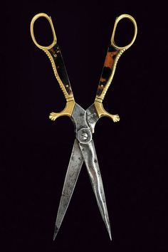 A rare scissors-dagger, Italy, 19th century.
