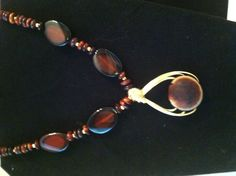 Horse eye sea bean necklace