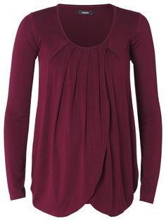 Camiseta de lactancia escote redondo Gwen Burdeos [40548b] - 44,95€ : Tienda premamá online. Moda prenatal para embarazadas y ropa interior para embarazo y lactancia., Demamis.com