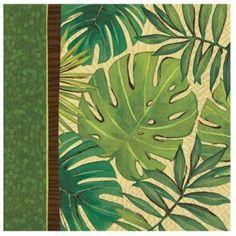 Ecological pattern of napkins; Green Party, Impreza, Ecology, Decoration, Kiwi, Plant Leaves, Napkins, Plants, Pattern