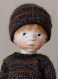 Boy in Grey Knit H342 by Elisabeth Pongratz