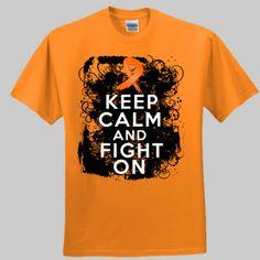 ef08d98075283 Keep Calm and Fight On Leukemia Awareness - Ultra Cotton ® 100% Cotton T  Shirt
