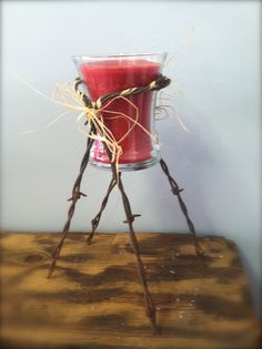 Barb Wire Candle Holder