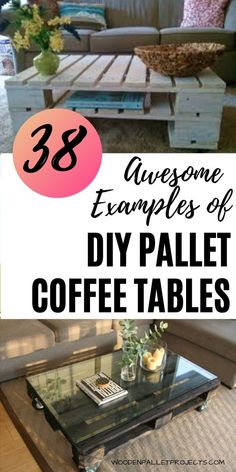 Check out these 38 Awesome examples of diy pallet coffee tables. Great ideas of pallet coffee tables with wheels, storage and a glass top. Easy to make, industrial and rustic coffee table projects. Build A Coffee Table, Coffee Table With Wheels, Rustic Coffee Tables, Pallet Ideas Easy, Diy Pallet Projects, Easy Diy Projects, Diy Home Furniture, Pallet Furniture, Furniture Ideas