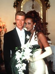 Iman and David Bowie. An amazing couple that will be together forever.